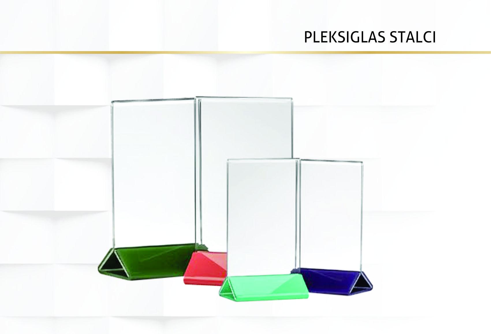 Pleksiglas stalci